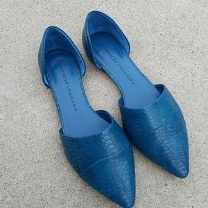 Chinese Laundry Teal Snake Flats